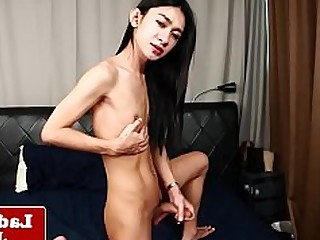 Big Cock Cumshot Hot Ladyboy Lingerie Small Tits Little Masturbation