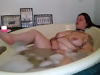 Bathroom Big Tits Boobs BBW Fatty Masturbation Model Orgasm