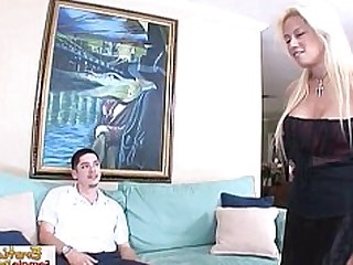 BDSM Blonde Boyfriend Couch Domination Friends Fuck Horny