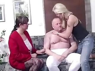 Couple Friends Mammy Mature MILF Threesome Wife